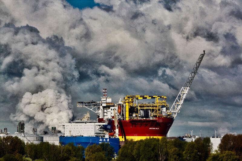 <strong>Nederland, Rotterdam, Maasvlakte.</strong>