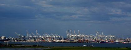 <strong>Nederland, Rotterdam, Maasvlakte,</strong><br><p>Overslag terminal</p>