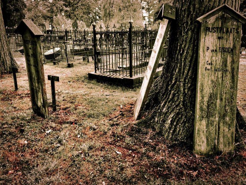 <strong>Nederland, Veenhuizen.begraafplaats (het 4e gesticht)</strong>